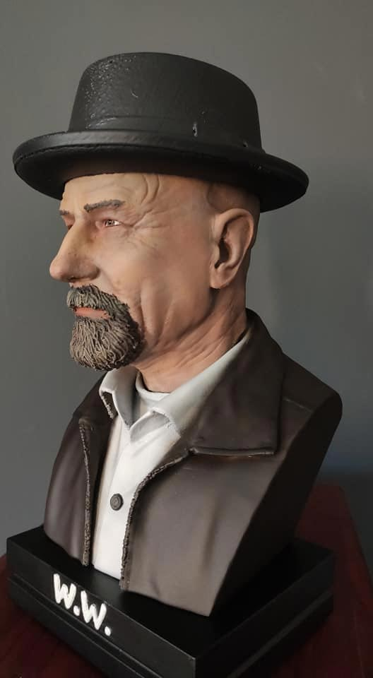 buste Walter White imprimé en 3D Breaking Bad