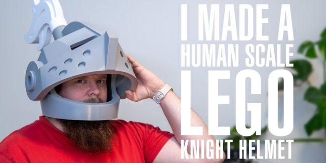 casque de lego à taille humaine