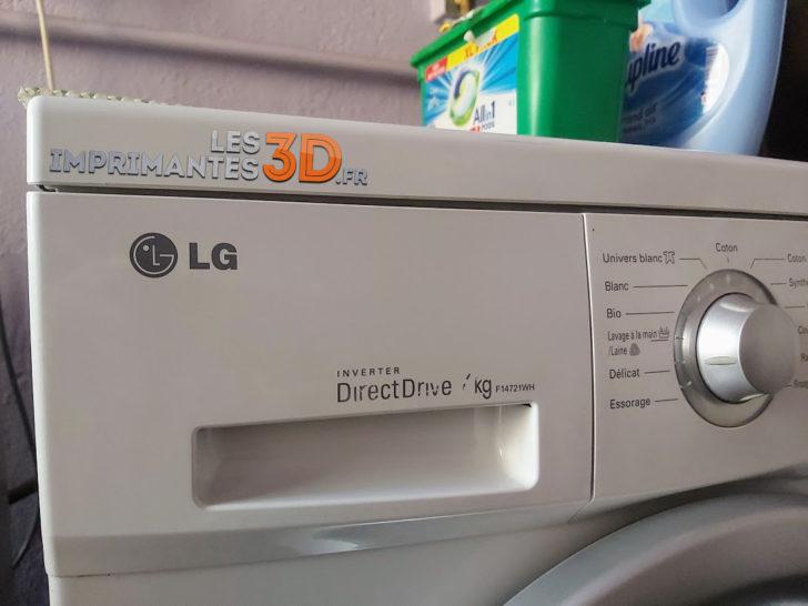 machine à laver direct drive imprimante 3d