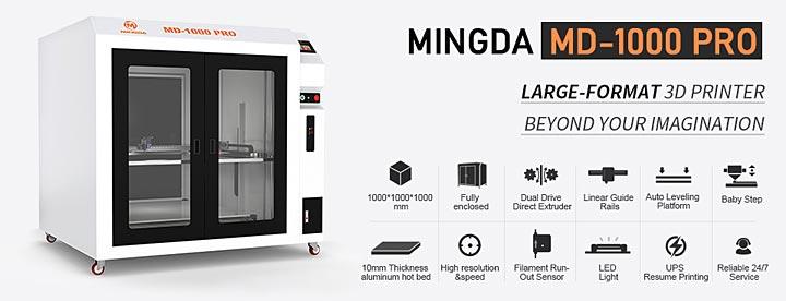 Mingda MD-1000 Pro MD666 imprimante 3D