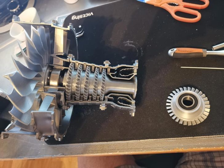 impression 3D DIY moteur avion Rolls Royce