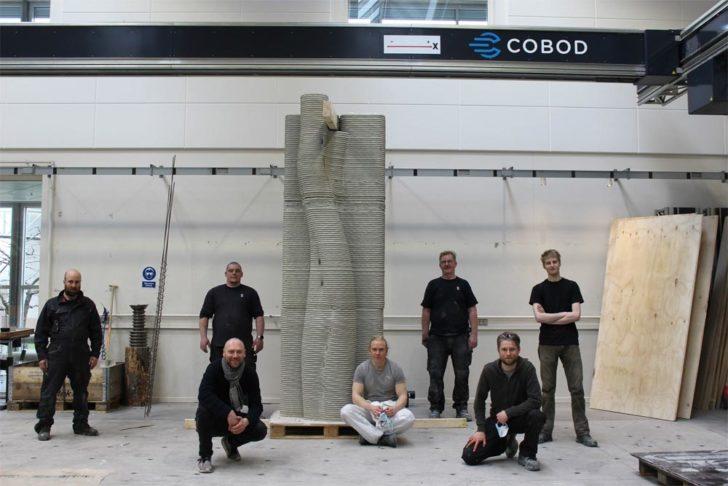 COBOD imprimante 3D hackathon batiment béton