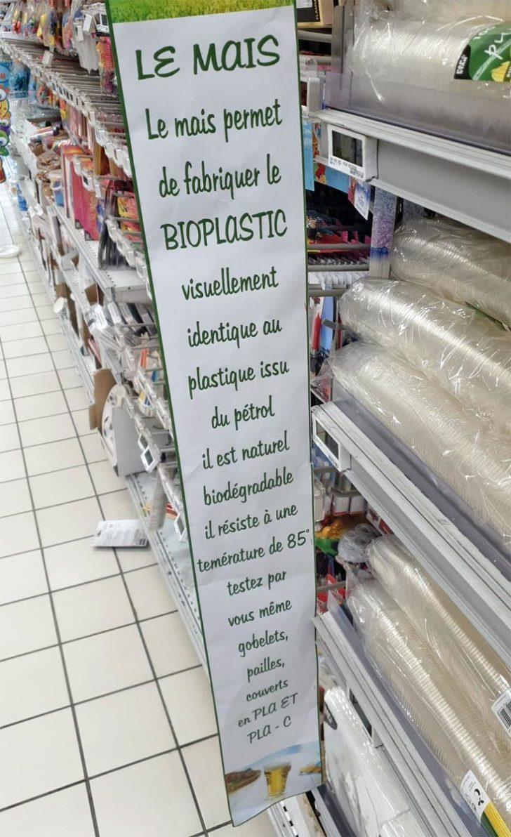 gobelet PLA Carrefour