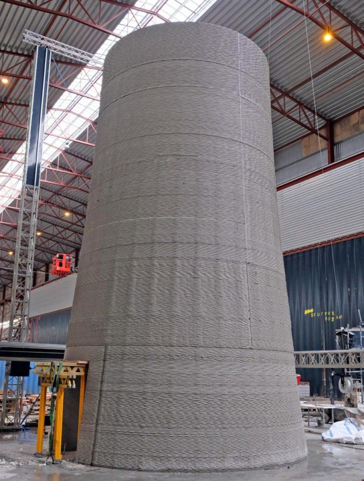 socle beton eolienne 3D Cobod