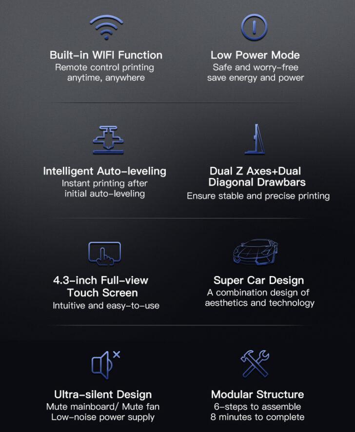 Fonctionnalités de la CR-10 Smart