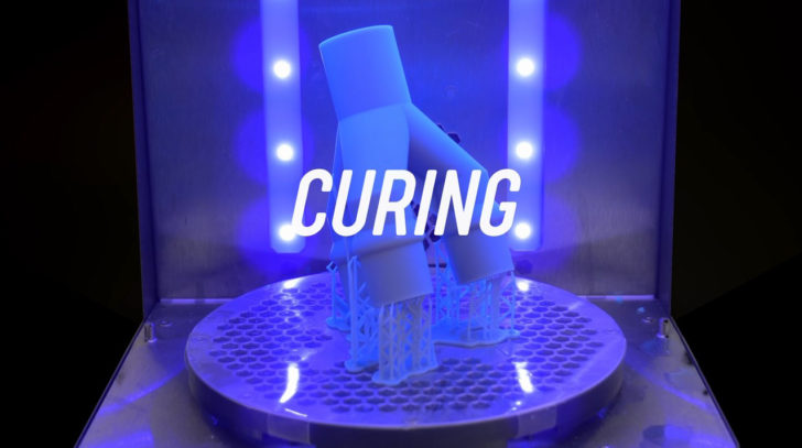 curing résine sla
