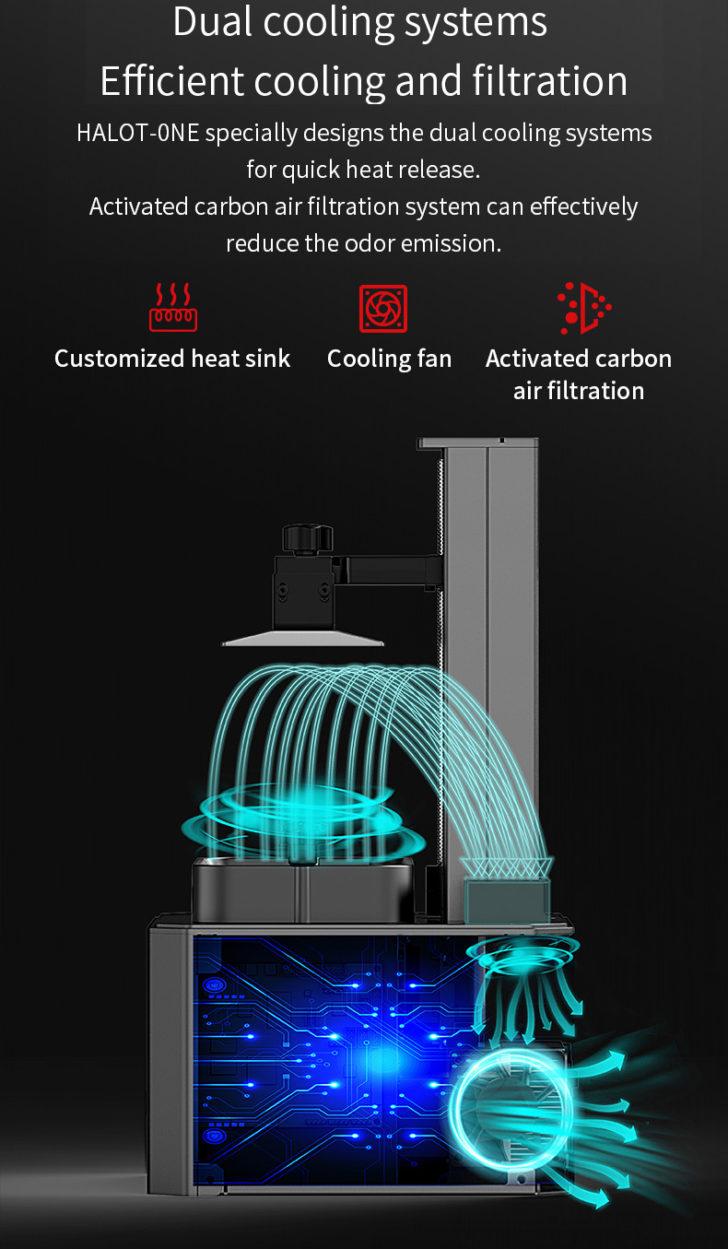 filtre à charbon imprimante 3D