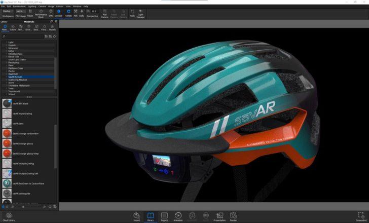 Stratasys casque KeyShot logiciel rendu 3D