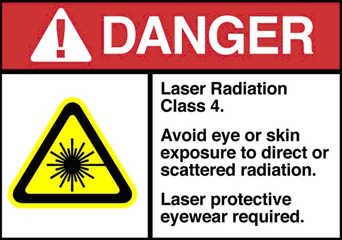 danger radiation laser classe 4