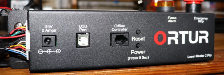 panneau de contrôle ortur laser master 2 pro montage