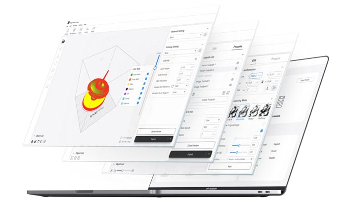 Snapmaker Lubon logiciel slicer 3D