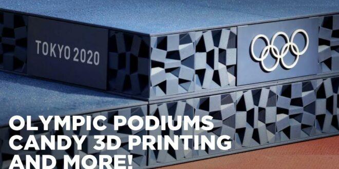 podium Jeux Olympiques 2020 Tokyo imprimé en 3D