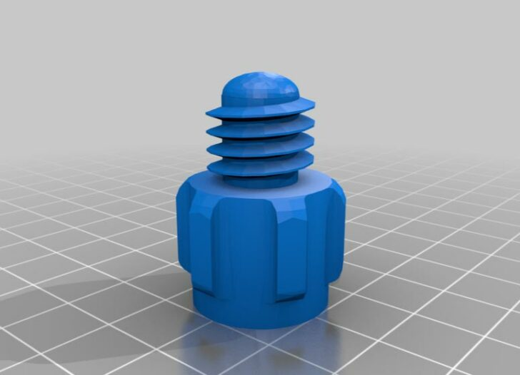 STL 3D bouchon recharge silicone