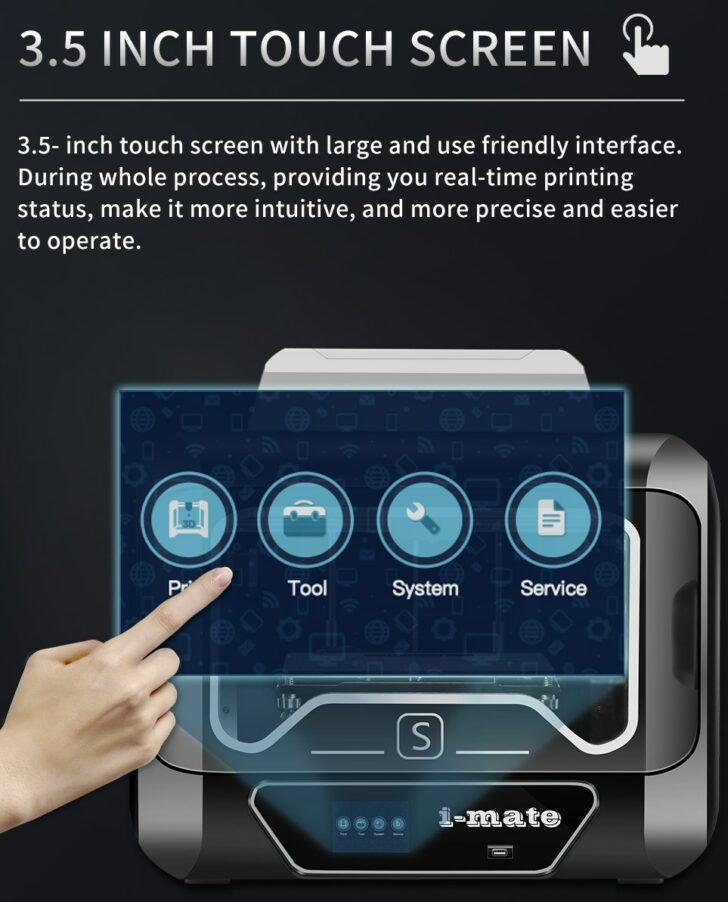 écran tactile imprimante 3d