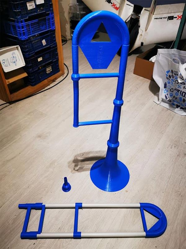 photo trombone 3D DIY